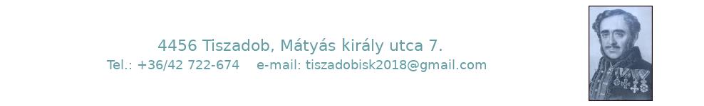 Tiszadobi Széchenyi István Általános és Alapfokú Művészeti Iskola